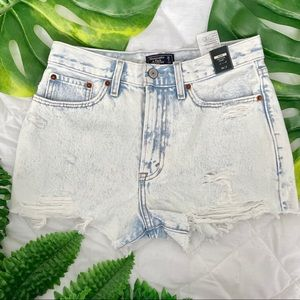 Abercrombie High Rise Shorts NWT
